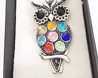 Custom Owl and Moon Necklace, Owl Gift, owl charm, owl jewelry, custom owl, initial owl necklace, bird jewelry, simple silver owl custom