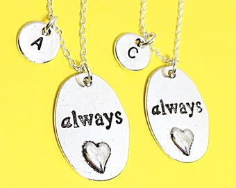 Set of 2  Personalized Always necklace Friendship Charm Necklace Always Harry Potter Always Pendant Friendship Jewelry Gift Necklace for 2