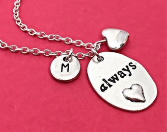 Custom Sterling Silver Always Necklace, Harry Potter Always Pendant, Silver Engraved Always Charm,Always Jewelry,Always Harry,Potter