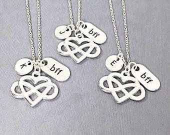 Bff jewelry, 3 best friend necklace, friend charm,best friends, forever,friendship pendant,personalized,monogram, bff jewelry, birthday gift