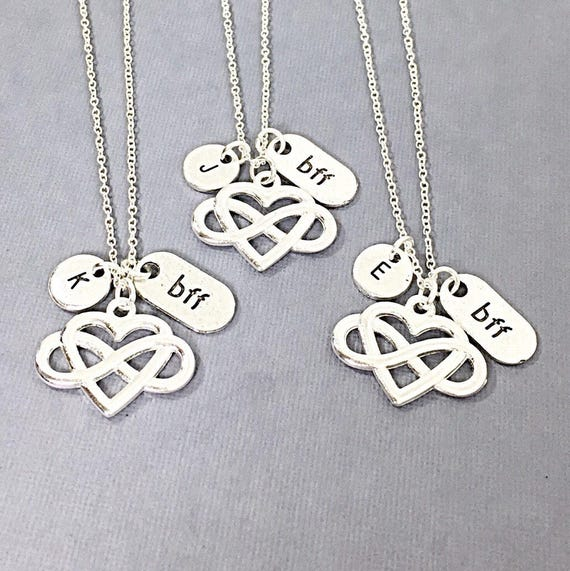 Personalized Set Of 3 Best Friend Necklaces Friend Etsy