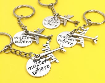 Four Friends, Friendship Keychain Gifts,Best friends keychain - set of four, bff charm, 4 bff keychain, set of 4 best friend Distance
