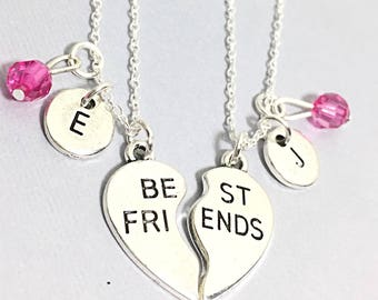 Set of 2, 925 Stelring Silver,Best Friend Necklaces - set of 2,bff necklace for 2,matching friend necklace,silver best friend jewelry,friend
