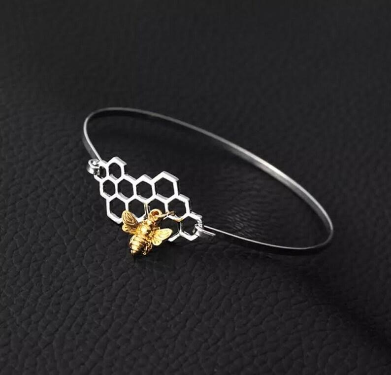 Bee Bracelet Bee Bracelet Bee Jewelry Gold Bee Bangle Bee Gift Bee