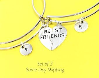 Best Friend Bracelet, Friendship Bangle Bracelet, Friendship Jewelry, No Matter Where distance,Custom, Personalized, Moving Gift for BFF