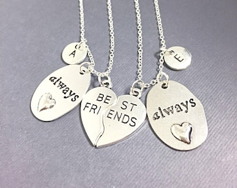 Always Jewelry,Set of 2  silver,Always Best Friends, necklace Jewelry,Best Friends always harry potter,always pendant,friendship jewelry,BFF
