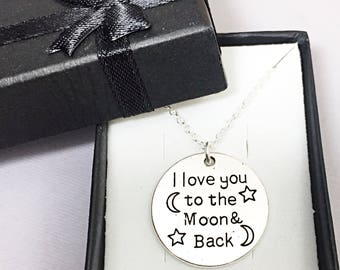 Best friend necklace,I love you to the moon and back charm pendant,best friend charm jewelry, I love you to the moon,gift for bff,I love you