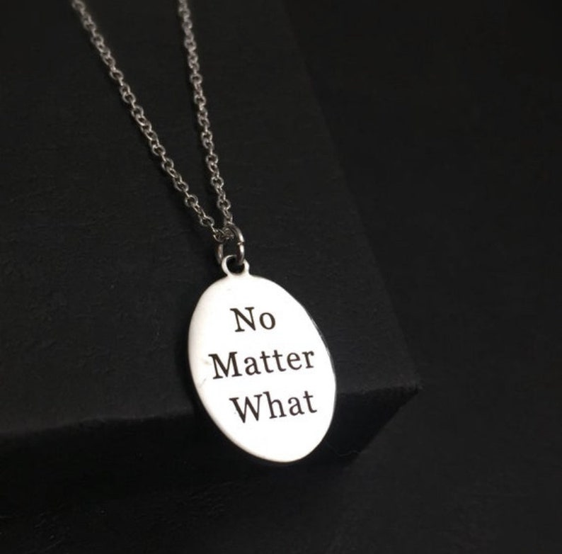 Sterling,Warrior necklace,No Matter What necklace recovery necklace recovery gift inspirational jewelry initial necklace personalize