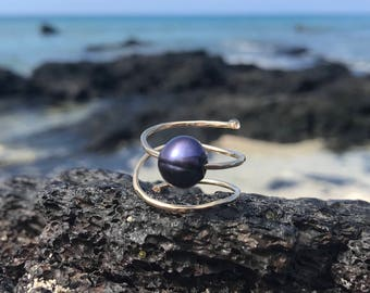Gold and Silver Pearl Rings