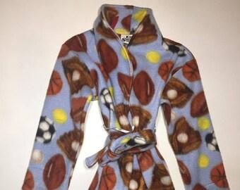 092df7b03f41 ZooFleece Kids Blue Space Fleece Robe Baby Winter Warm Gift