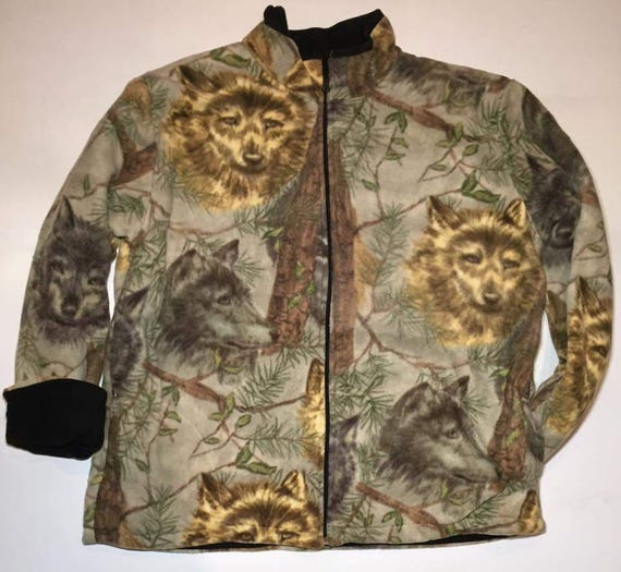 ZooFleece Blue Wolf Animal Kids Boys Jacket Hoodie Coat Wolf Gift Baby Children