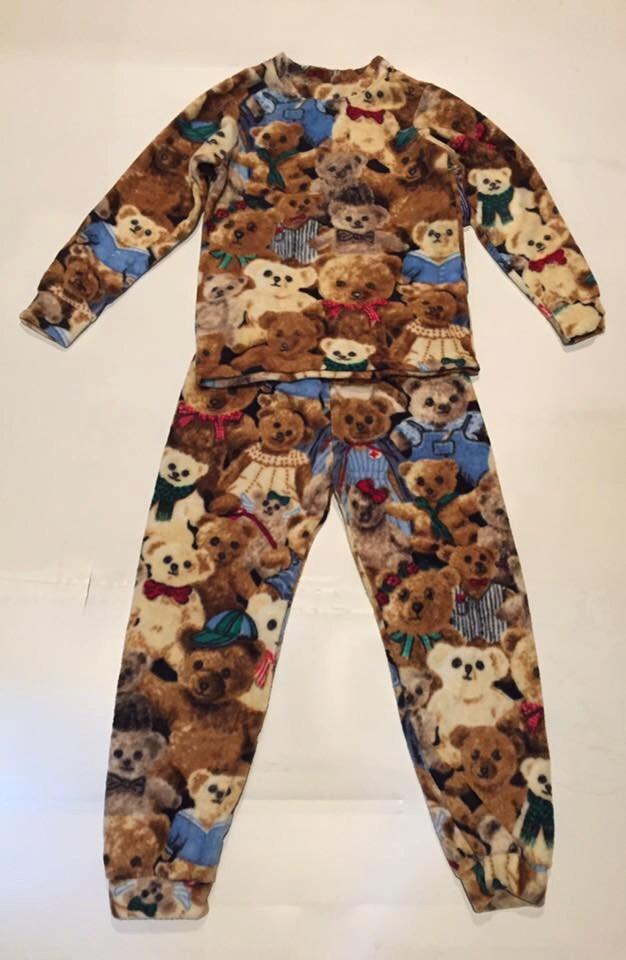 c8634b01a ZooFleece Kids Unisex Brown Teddy Bears Fleece PJ s