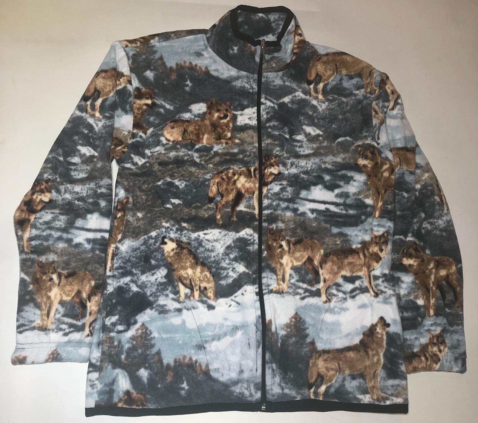 2076fb1dce9 ZooFleece Mountain Wolf Fleece Jacket Winter Wolves Howling