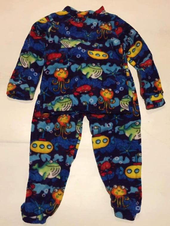 31d7beeb9 Kids Blue Ocean Aquatic Finding Dori Fleece PJ s Pajamas