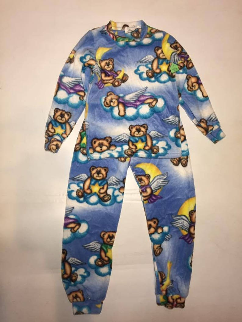 3fe9e19b4 ZooFleece Kids Blue Teddy Bears Fleece PJ s Pajamas Gift