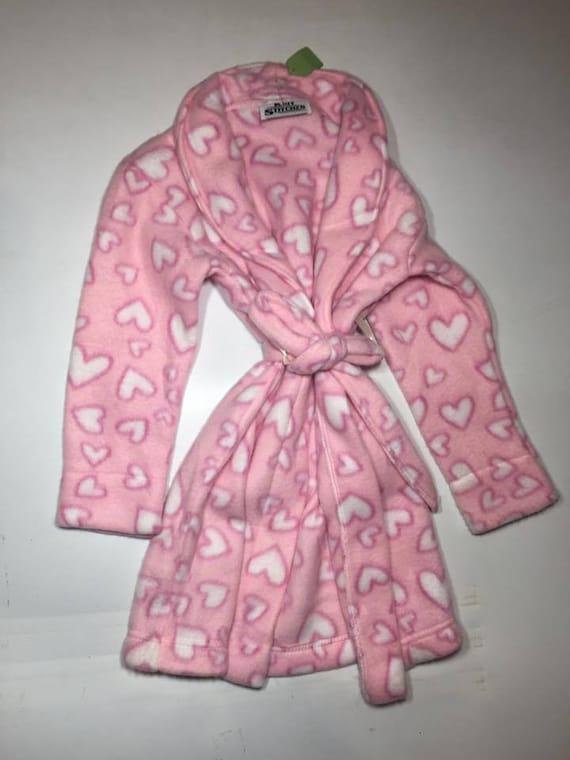 98fd688443dc ZooFleece Kids Pink Hearts Girl s Fleece Robe Baby Winter