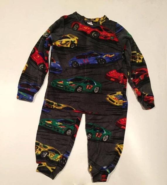 42590afffe39 ZooFleece Kids Plush Comfortable Boys Gray Race Cars Fleece
