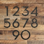 """8"""" Metal House Number - Modern Font House Number - Metal Address Number - Street Address Number - Plasma Cut from Mild Steel"""