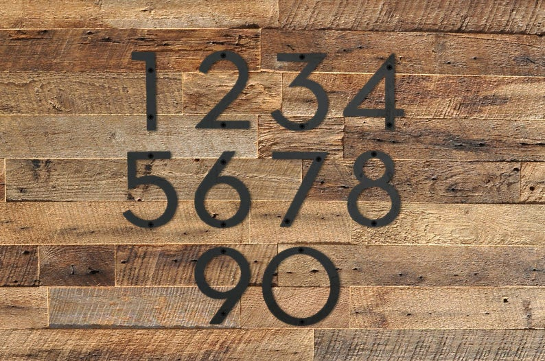 9b56e89079e 6 Metal House Number Modern House Number Metal