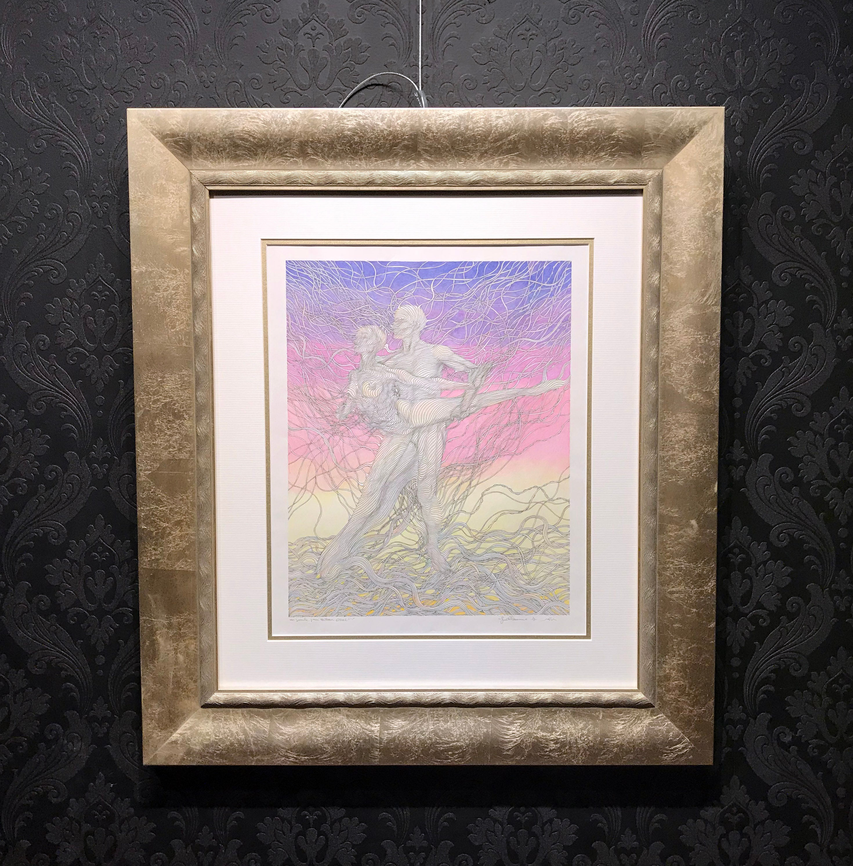 Guillaume Azoulay Original Drawing Ink And Colored Pencil