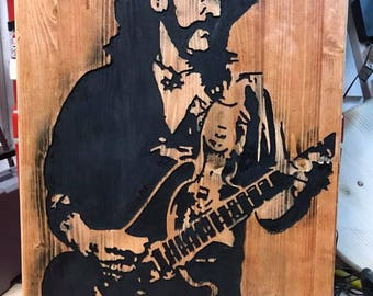 Motorhead Lemmy Wood Art