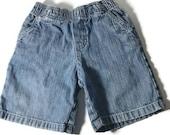 Vintage Washed and Distressed Denim Cargo Shorts Circo Size 2T Toddler washed Shorts