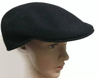 Nice Black Flat cap wool fit Medium-Large 530a466e2e76