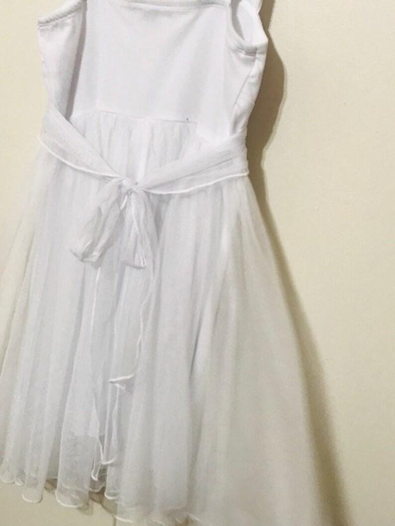Dress with lace and beads Boho Chic Dress Beautiful Girl/'s White Dress Wedding Dress First Communion Dress Size 8 Tull Dress
