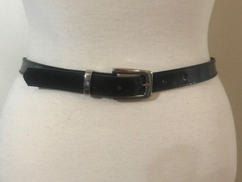 e162d9aae8e Vintage Black Belt Shiny Black patent leather Women s