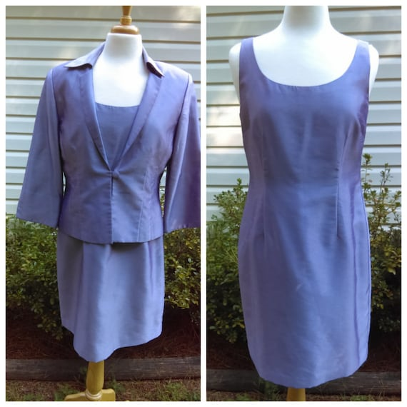 2bd31fc0da Vintage Lilac Dress with Jacket by Jessica Howard size 12