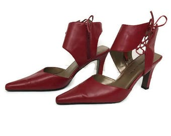 Red Leather Shoes Pumps Shoes From Bellini Size 7 1/2
