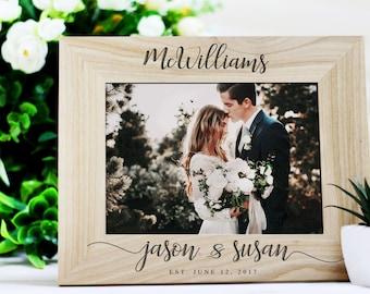 Personalized Wedding Frame Etsy