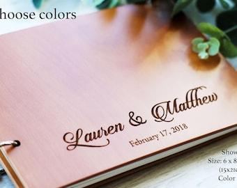 Wedding Guest Book #63 Botanical Hardcover Wedding Guestbook Wedding Guest Books Custom Guest Book Personalized Guestbooks