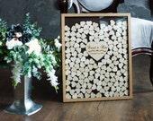 Guest Book Wedding Guest Book Alternative Personalized Drop box Alternative Guest Book Hearts GuestBook Unique Wedding Guestbook  Book Heart