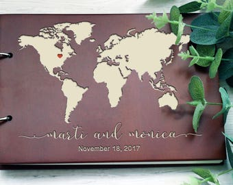 Map guest book etsy wedding guest book map guest book travel guest book travel album wedding guestbook custom guest book 79 gumiabroncs Image collections