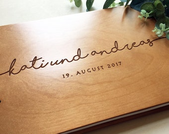 Unique Wedding Guestbook Rustic Wedding Guest book Wood Wedding Guest book Wood Custom Engraved Guest Book Personalized Guest Book #11
