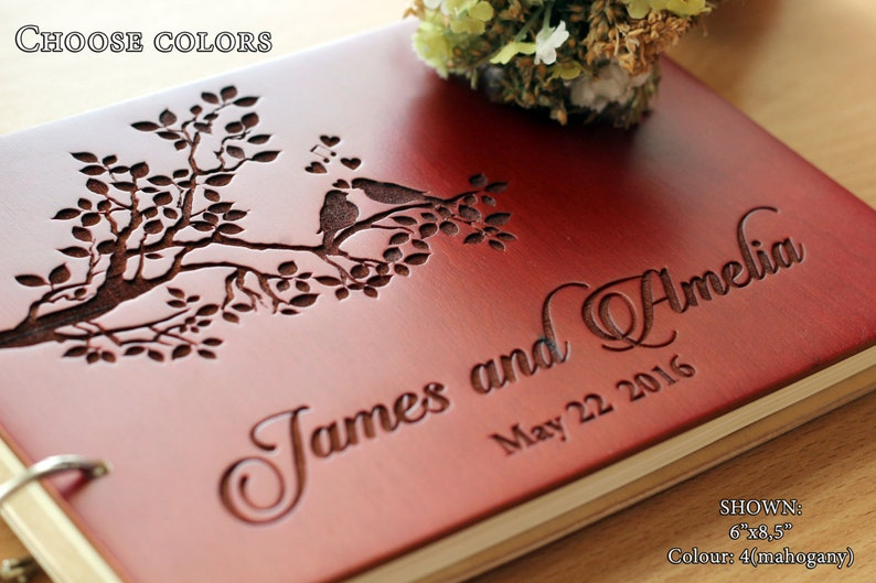 Wedding Guest Book Unique Wedding Guestbooks Rustic Guest Book image 0