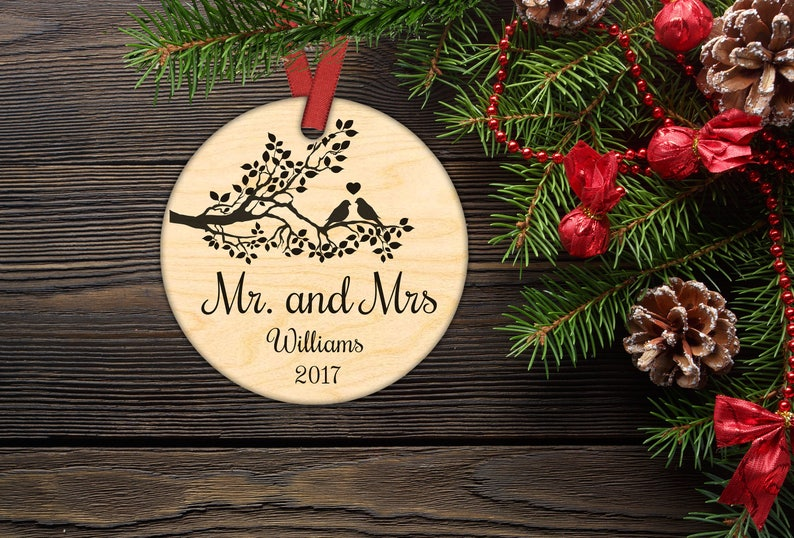 Personalized Christmas Ornament.Our First Christmas Ornament Married Mr And Mrs Personalized Christmas Ornaments Gifts Couple Just Married Newlywed Gift Holiday Decor