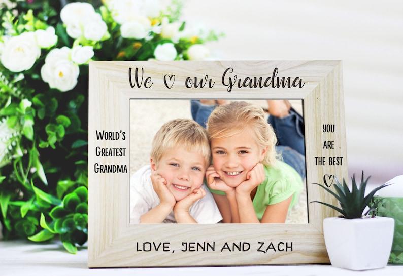 Gift for Grandma Picture Frame Personalized frame Grandmother Gift Grandma frame Personalized Engraved Photo Frame I Love my Grandma