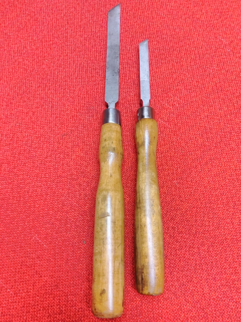 Vintage Greenlee Lathe Chisels Rockford Illinois 2 Quality Made In USA Tools
