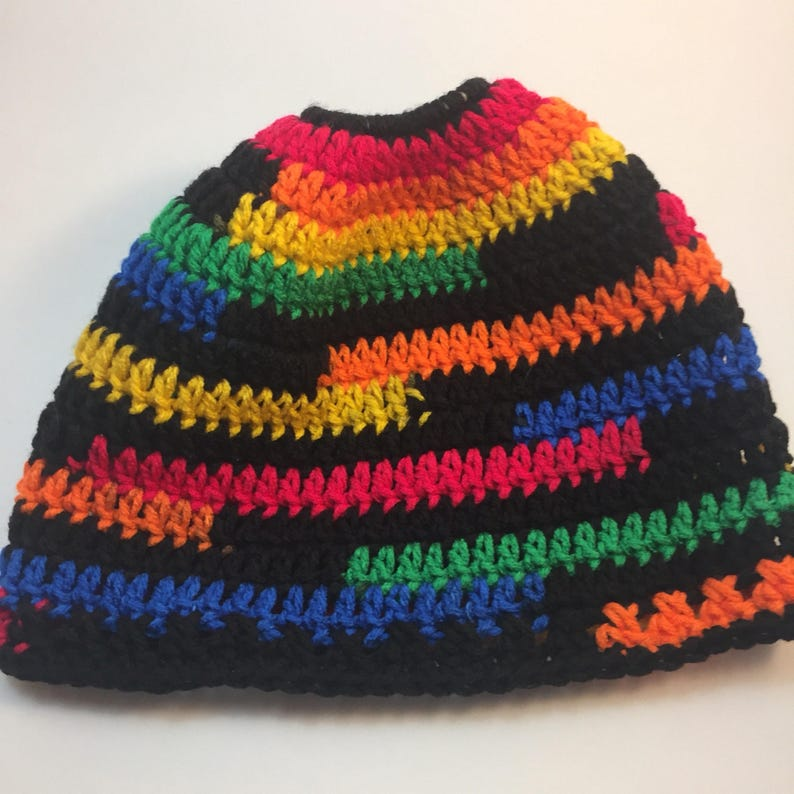 Messy Bun Hippie Hat