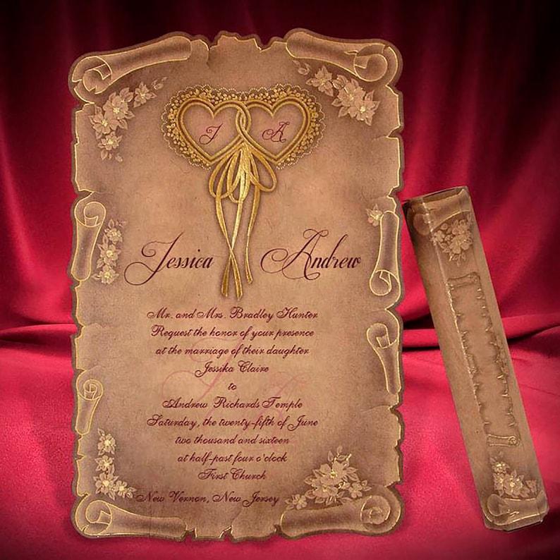 Scroll Wedding Invitations.Scroll Wedding Invitation Card Medieval Style Wedding Invitations Unique Antique Kraft Invites Amazing Creative Scrolls Code 6135