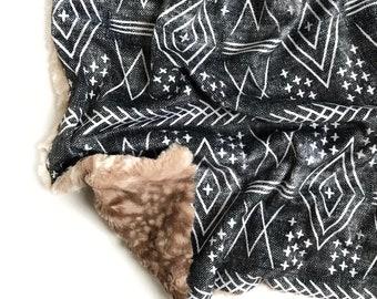 Red Brown Blanket Gender Neutral Blanket Baby Shower Gift Stroller Blanket CLEARANCE Puppy Dog Minky Blanket Toddler Blanket