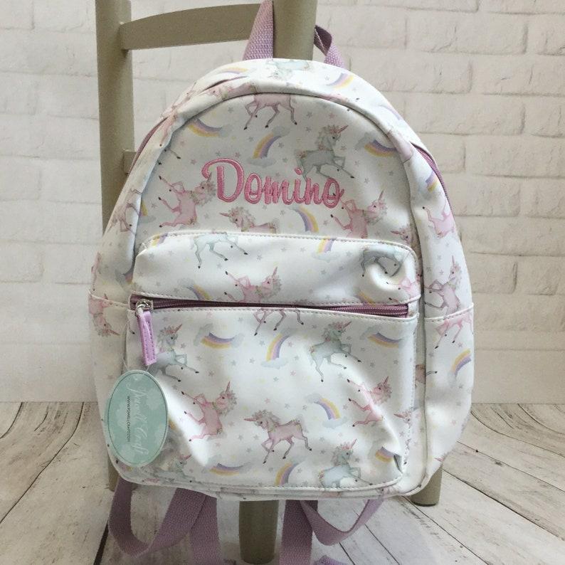 school nursery Personalized Bag Personalised Child/'s Unicorn Backpack Rucksack
