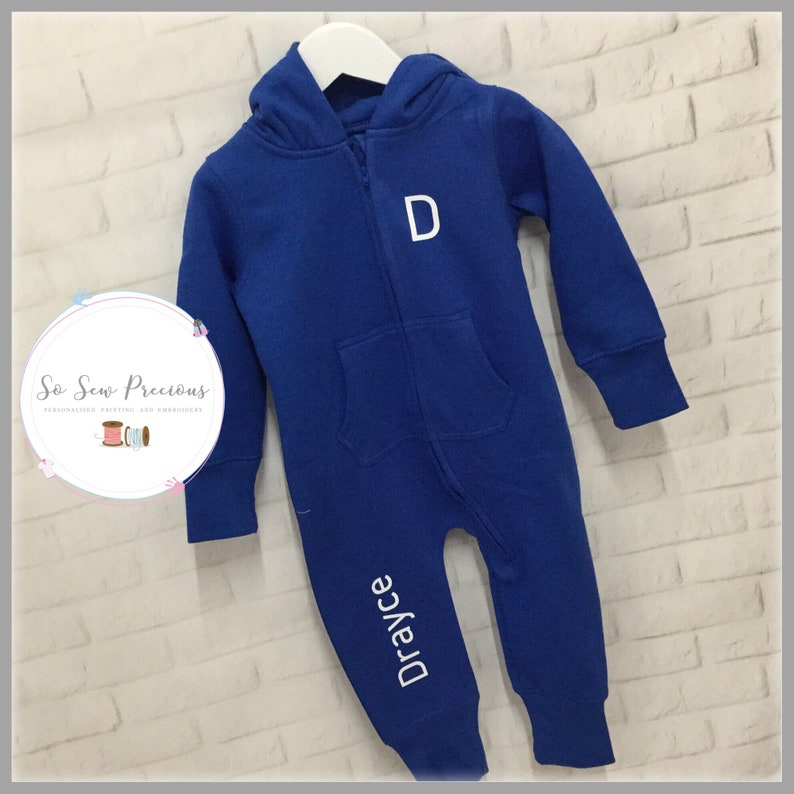 any colour romper suit Personalised Baby and Toddler All in One Personalized
