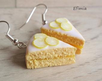 Earrings delicious lemon pie