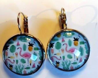 gift vintage ethnic colorful Gypsy mosaic original Christmas silver boho original Byzantine Earring stud earring hippie