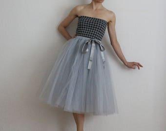 Tulle petticoat Light version grey 70 cm