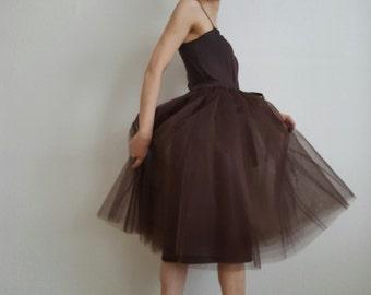 Tulle petticoat light brown 70 cm skirt