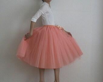 Tulle petticoat melon Skirt 70 cm